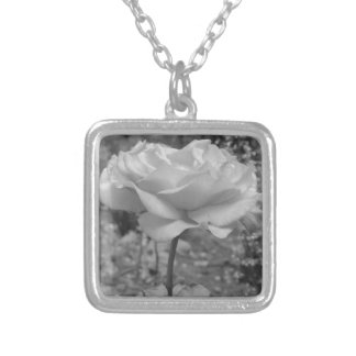 Rose Flower of Love B/W Necklace