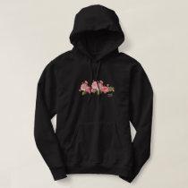 ROSE FLOWER PATTERN HOODIE