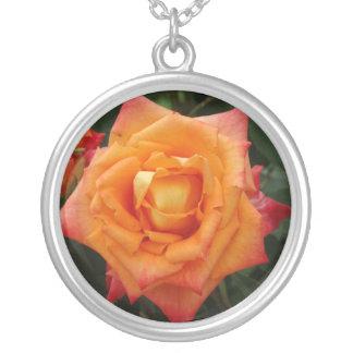 Rose  Flower Photo Round Necklace