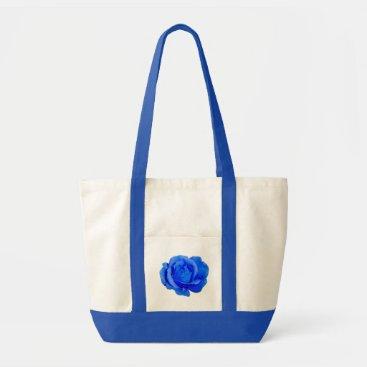 Beach Themed Rose Flower Tote Bag Blue Rose Beach Bags