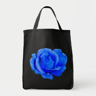 Rose Flower Tote Bag Blue Rose Beach Tote Bags