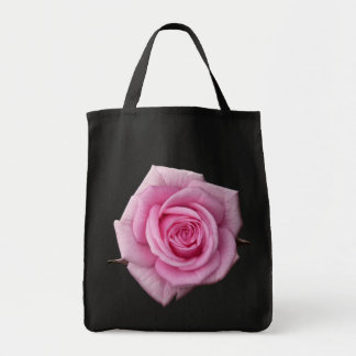 Rose Flower Tote Bag Pink Rose Beach Tote Bags
