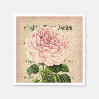 rose flower vintage feminine floral paper napkins