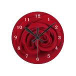 Rose Flower Wall Clock -- Red Rose