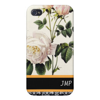rose flowers and butterfly, Pierre Joseph Redouté Cover For iPhone 4