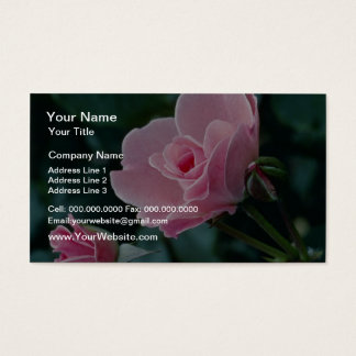 Rose flowers business card