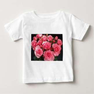 rose flowers flower pink love pink baby T-Shirt