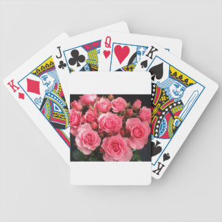rose flowers flower pink love pink bicycle playing cards