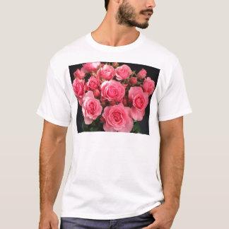 rose flowers flower pink love pink T-Shirt