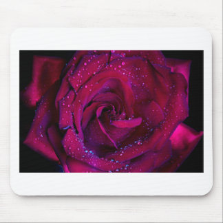 rose flowers flower red water droplets date dance mousepad