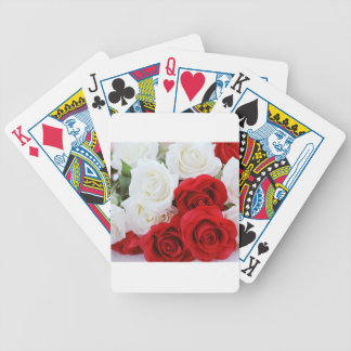 rose flowers flower white red love bicycle playing cards