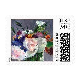 Rose Flowers in a Crystal Vase Fine Art Postage