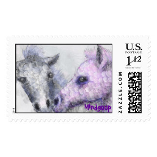 rose foals postage stamps