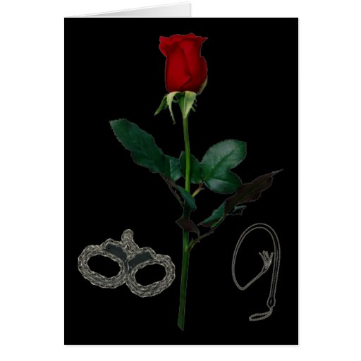 ROSE FOR A DOMME GREETING CARDS