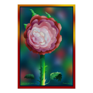 """"""" ROSE FOR DAD """" by: Robert Singletary Poster"""