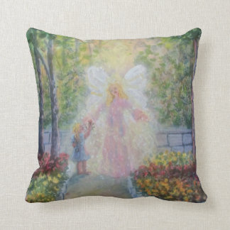 Rose for the Angel Throw Pillow