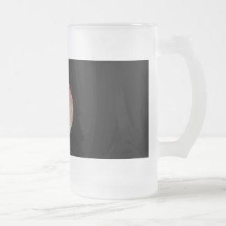 ROSE FROSTED GLASS BEER MUG