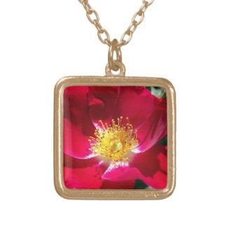 Rose (Fuchsia Colored) Necklace
