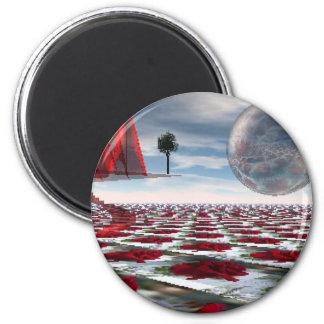 Rose garden 2 inch round magnet