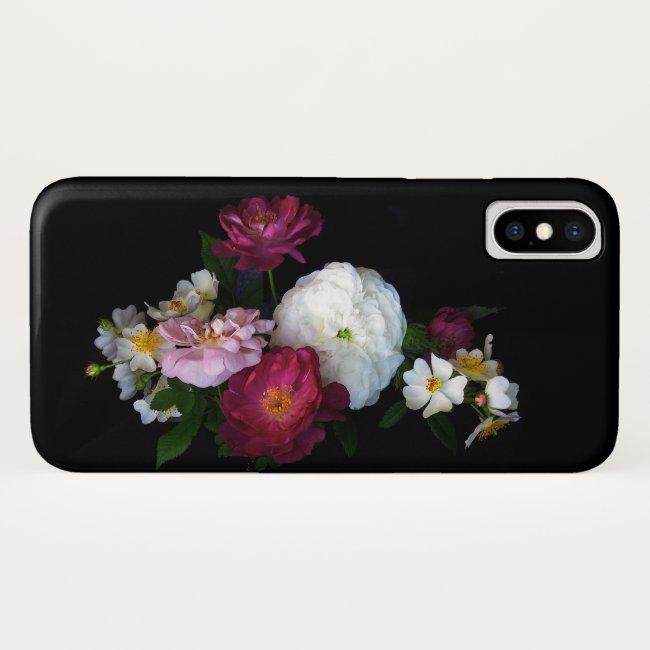 Rose Garden Antique Flowers iPhone X Case