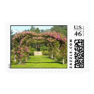 Rose Garden at Elizabeth Park, Hartford Postage Stamp