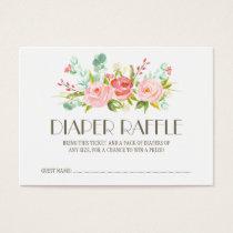 Rose Garden Baby Diaper Raffle Ticket