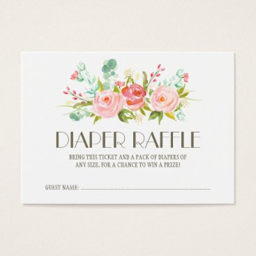 Toddler & Baby themed Rose Garden Baby Diaper Raffle Ticket