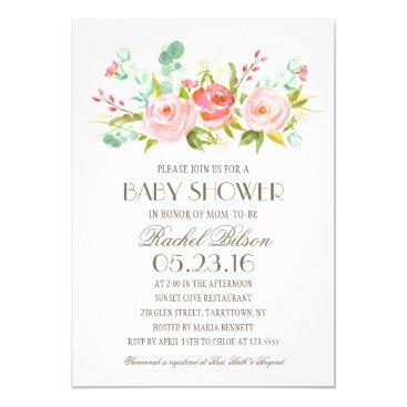 Toddler & Baby themed Rose Garden   Baby Shower Invitation