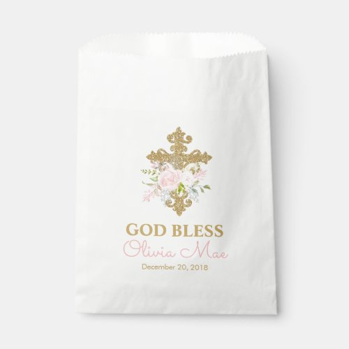 Rose Garden Baptism Favor Bags