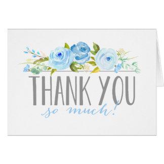 Rose Garden Blue | Thank You Card