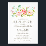 """Rose Garden   Bridal Shower Card<br><div class=""""desc"""">This Bridal Shower Invitation features lovely watercolored flowers. Send your guests an invite they won&#39;t forget! For an even more memorable invitation select a die-cut shape,  textured paper or a double thick paper.               com.</div>"""
