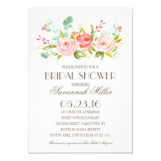 Rose Garden Bridal Shower Card