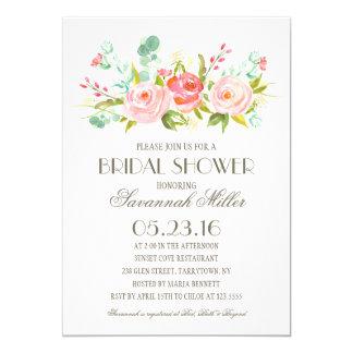 rose garden bridal shower card
