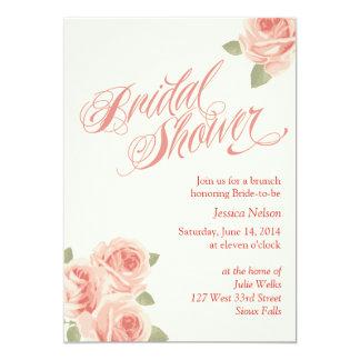 """Rose Garden Bridal Shower Invitation 5"""" X 7"""" Invitation Card"""