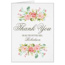 Rose Garden   Bridal Shower Thank You