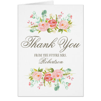 Bridal Shower Thank You Note Cards | Zazzle