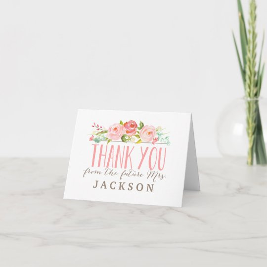 rose garden bridal shower thank you card zazzle com