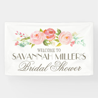 Rose Garden | Bridal Shower Welcome Banner