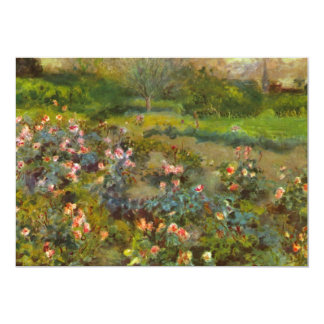 Rose Garden by Renoir beautiful impressionist art Card