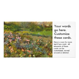 Rose Garden by Renoir beautiful impressionist art Customized Photo Card