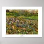 Rose Garden by Renoir beautiful impressionist art Poster