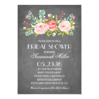 Rose Garden Chalkboard | Bridal Shower Card