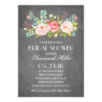 Rose Garden Chalkboard   Bridal Shower Card