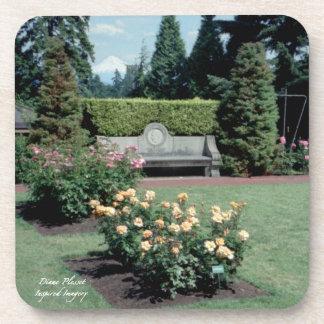 Rose Garden Cork Coaster