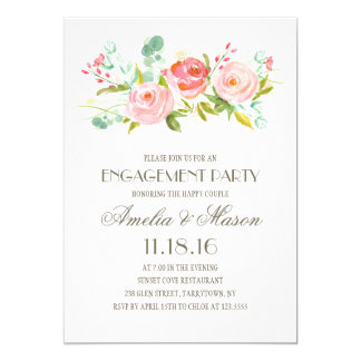 Rose Garden | Engagement Party Card