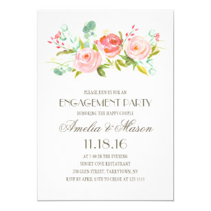 Garden party invitations announcements zazzle rose garden engagement party invitation stopboris Choice Image