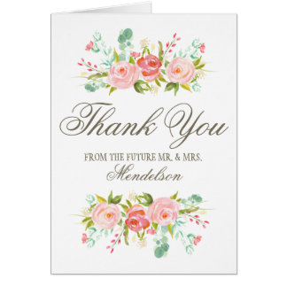 Rose Garden | Engagement Party Thank You Card