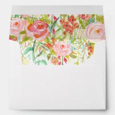 Rose Garden Envelope With Floral Liner at Zazzle