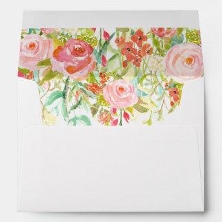 Rose Garden Envelope with Floral Liner