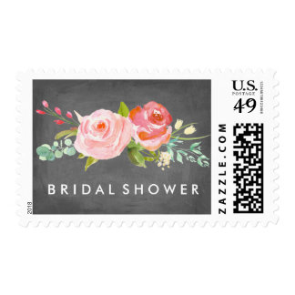Rose Garden Floral Bridal Shower Postage Stamp